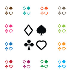 Isolated card suits icon play element can vector