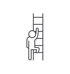 Ladder opportunity line icon concept ladder of vector
