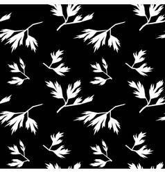 Leaf seamless pattern parsley vector