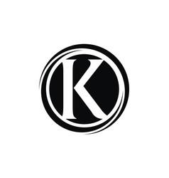Letter k modern vector