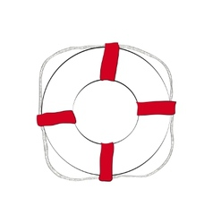 Life buoy sketch vector