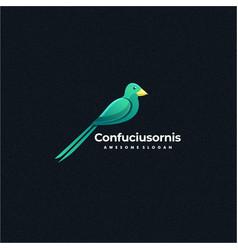 logo bird colorful style vector image