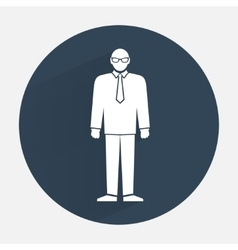 Man icon Office worker people symbol Standing vector