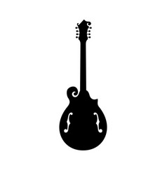 mandola fretted stringed musical instrument vector image