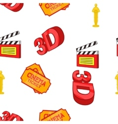Movie pattern cartoon style vector