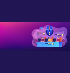 Multiplayer online battle arena concept banner vector