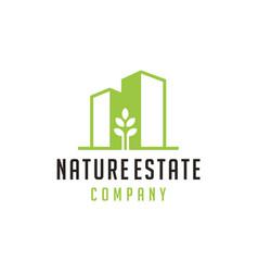 nature building estate logo vector image