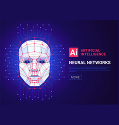 neural networks and artificial intelligence vector image