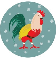 New Year bird symbol design Rooster portrait vector image