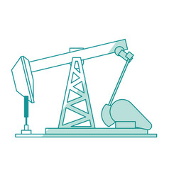 Oil pump silhouette vector