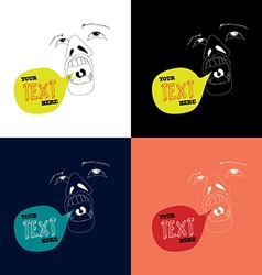 Open mouth with speech bubble vector image