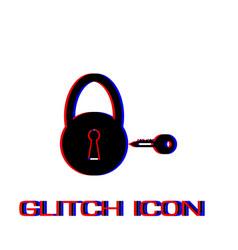 padlock and key icon flat vector image