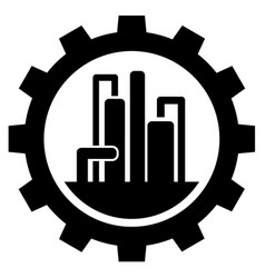 petroleum refining industry sign icon vector image