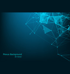 plexus lines and particles background technology vector image