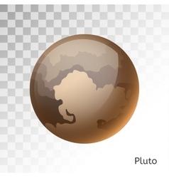 Pluto planet 3d vector image