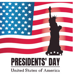 presidents day background statue of liberty vector image
