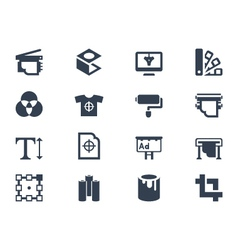 Printing icons vector image