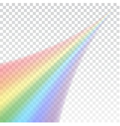 rainbow icon shape realistic isolated on white vector image