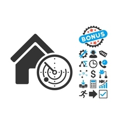 Realty Radar Flat Icon with Bonus vector image
