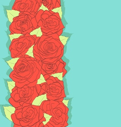 retro style Using the old colors Red roses vector image