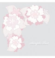 romantic pink flower backgroundoun vector image