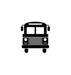 School bus icon simple flat sign black symbol on vector
