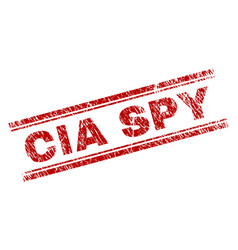 Scratched textured cia spy stamp seal vector