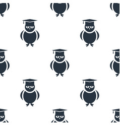 seamless owl pattern education symbol from icon vector image