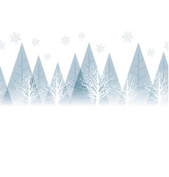 seamless winter forest background with text space vector image