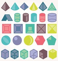 Set of icons geometric logo vector image vector image