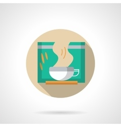 Slimming tea round flat color icon vector image