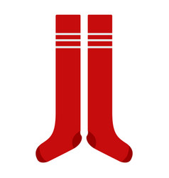 soccer socks icon vector image