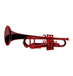 template-trumpet vector image