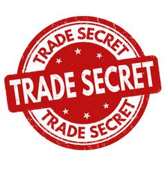 Trade secret grunge rubber stamp vector