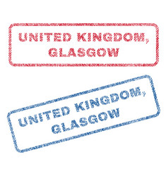 United kingdom glasgow textile stamps vector