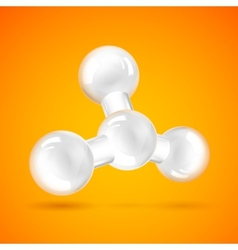 White molecule icon vector