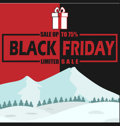 Winter black friday sale limited image vector
