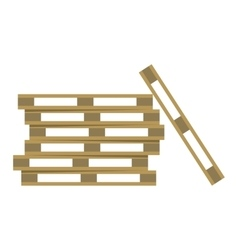 Wooden warehouse shelves vector