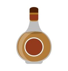 cognac bottle alcochol drink style vector image vector image