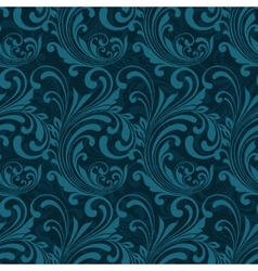 Dark blue ornamental seamless vector image vector image