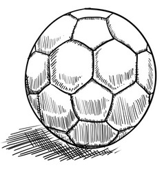 doodle soccer football vector image vector image