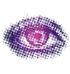 Halftone Eye vector image