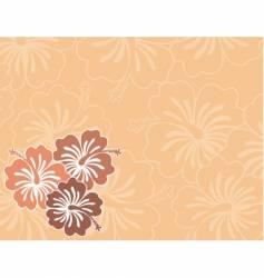 honolulu flower vector image vector image