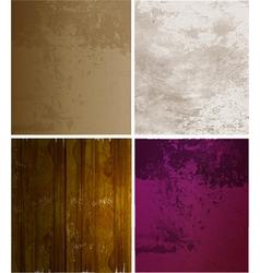 Scrapbooking set old paper textures vector image vector image