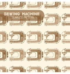 Sewing Machine Vintage style vector image vector image
