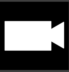 video camera the white color icon vector image vector image