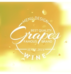 White wine glass and Bottle vector image vector image
