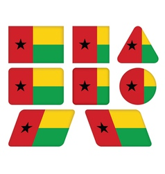 buttons with flag of Guinea-Bissau vector image