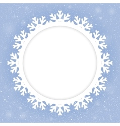 Circle Blue Background New Year Snow Snowflake vector image