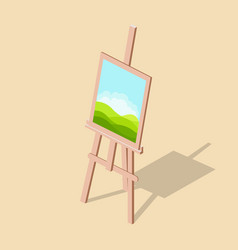 easel with a picture isometric vector image